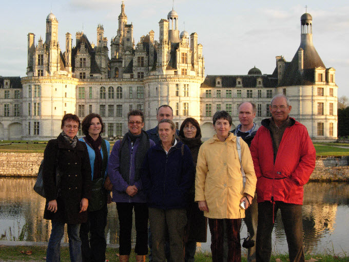 Outside Chateau de Chambord